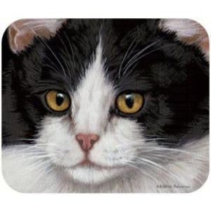 Black & White Cat Mouse Pad