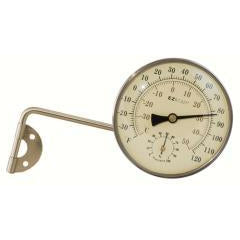 Antique Brass 4 inch Metal Thermometer