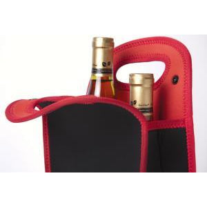 Neoprene Wine Bottle Tote Holds 2 Bottles