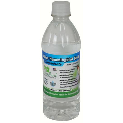 Clear Concentrate Hummingbird Nectar Bottle .5 Liter