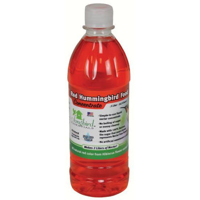 Red Concentrate Hummingbird Nectar Bottle .5 Liter