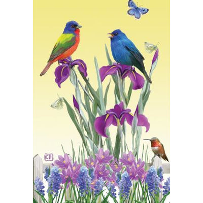 Birds n Butterflies House Flag