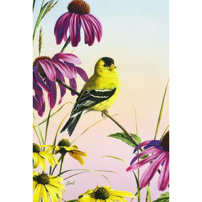 Goldfinch Sunrise House Flag