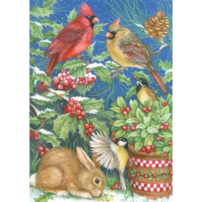 Winter Feast Garden Flag