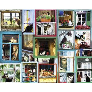 Window Cats 1000 piece Puzzle