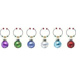 Wine Charms - Spirals - S/6