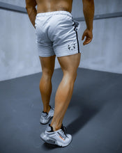 Xtreme Stripe Shorts - Grey Melange and Black