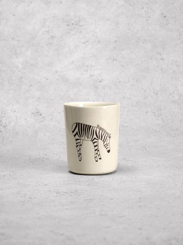 Grande timbale Zebra Profil-TIMBALES-Three Seven Paris- Ceramic Plates, Platters, Bowls, Coffee Cups. Animal Designs, Zebra, Flamingo, Elephant. Graphic Designs and more.