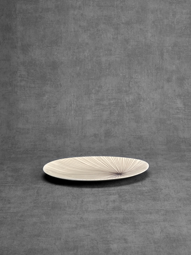Petit plat de service Porcupine Large-PLATS DE SERVICE-Three Seven Paris- Ceramic Plates, Platters, Bowls, Coffee Cups. Animal Designs, Zebra, Flamingo, Elephant. Graphic Designs and more.