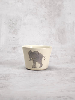 Tasse à thé Elephant Front-TASSES-Three Seven Paris- Ceramic Plates, Platters, Bowls, Coffee Cups. Animal Designs, Zebra, Flamingo, Elephant. Graphic Designs and more.