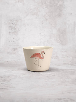 Tasse à thé Flamingo Front-Three Seven Paris- Ceramic Plates, Platters, Bowls, Coffee Cups. Animal Designs, Zebra, Flamingo, Elephant. Graphic Designs and more.