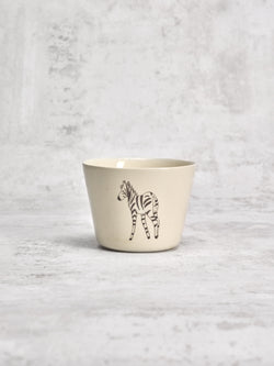 Tasse à thé Zebra Back-TASSES-Three Seven Paris- Ceramic Plates, Platters, Bowls, Coffee Cups. Animal Designs, Zebra, Flamingo, Elephant. Graphic Designs and more.