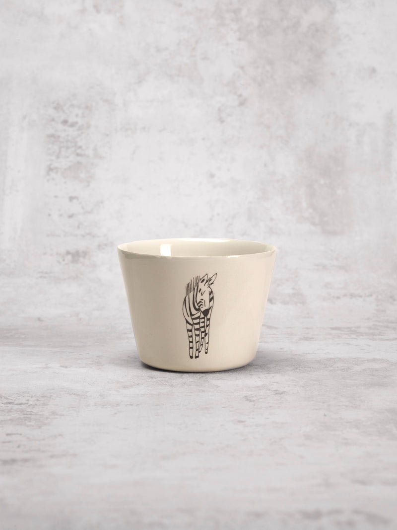Tasse à thé Zebra Front-TASSES-Three Seven Paris- Ceramic Plates, Platters, Bowls, Coffee Cups. Animal Designs, Zebra, Flamingo, Elephant. Graphic Designs and more.