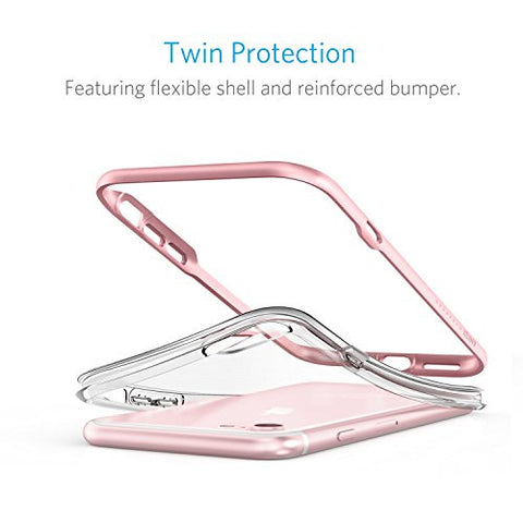 iPhone 7 Case, Anker Ice-Case Lite Clear Protective Case with Hard Bumper Frame and Enhanced Grip for Apple iPhone 7 ONLY