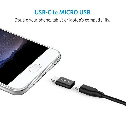 [2 in 1 Pack] Anker USB-C (male) to Micro USB Adapter (female), Converts USB Type-C input to Micro USB, Uses 56K Resistor, Works with MacBook, ChromeBook Pixel, Nexus 5X, Nexus 6P, OnePlus 2 and More