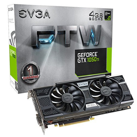 GeForce GTX 1050 Ti FTW Gaming Graphic Cards ACX 3.0, 4GB GDDR5, DX12 OSD Support (PXOC) Graphics Card 04G-P4-6258-KR