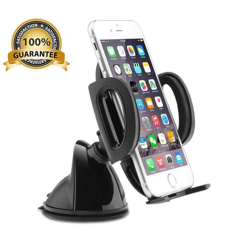 Universal Car Mount Cell Phone Holder for 4.8 inches smartphones, iPhone 7 6s Plus 6 5s, Samsung Galaxy S6 and more