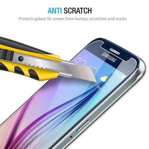 Galaxy S6 Screen Protector, Gembonics Samsung Galaxy S6 Tempered Glass Screen Protector with Bubble Free, 9H Hardness, Touchscreen Accuracy, Eye-Protective and Lifetime Hassle-free Warranty