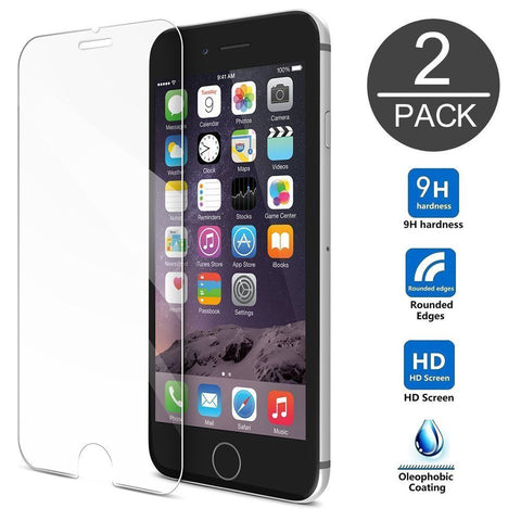 iPhone 6 Plus Screen Protector, Gembonics Tempered Glass, 99% Touch-screen Accurate, Round Edge [0.3mm] Ultra-clear Perfect Fit 5.5 inch Maximum Screen Protection from Bumps, Drops, Scrapes and Marks