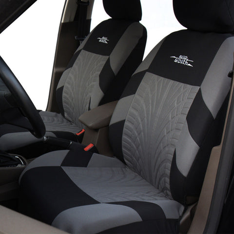 Embroidery Car Seat Covers Set Universal Fit Most Cars Covers with Tire Track Detail