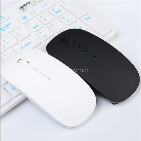 Ultra Thin USB Optical Wireless Mouse 2.4G Receiver For Computer PC Laptop Desktop available in Blue, Black,White, Pink ,White