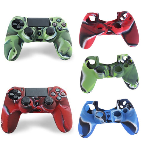 Cool Camouflage Soft Silicone Cover Case Protection Skin For Sony Playstation 4 Controller