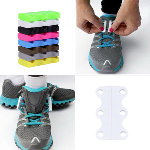 1 Pair Novelty Magnetic Casual Sneaker Shoe Buckles - No-Tie Shoelace