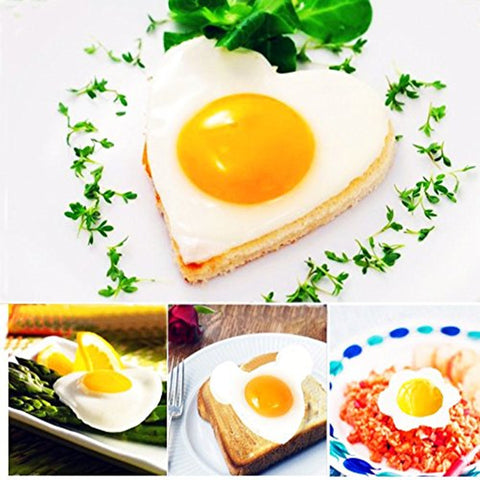 Cute Shaped Stainless steel Molds for Egg, Pancakes 5pcs/set. Best Kitchen Gadgets