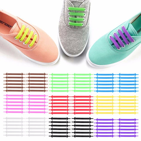 Creative Design Athletic No Tie Shoelaces for Men & Women - Available in 9 Colors - Amazing Unisex Shoes Laces