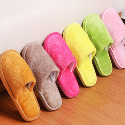 Foot Warmers for Winters- Candy Color Men and Women Cotton Indoor Slippers - Available in 7 Beautiful Colors