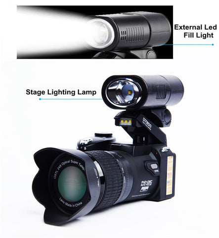 Digital DSLR Camera D3200 33MP 1080P Body Camera Camcorder + LED Spotlight