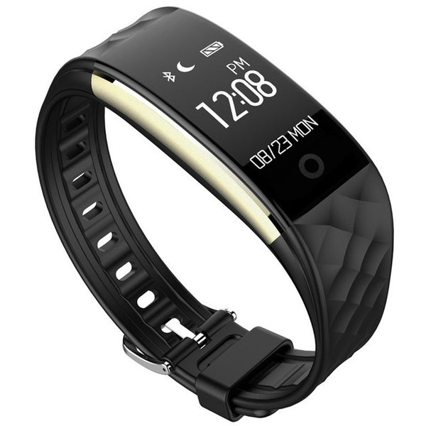 S2 Bluetooth Smart Wristband with Heart Rate Monitor, IP67 Waterproof Compatible with Android and iOS phones