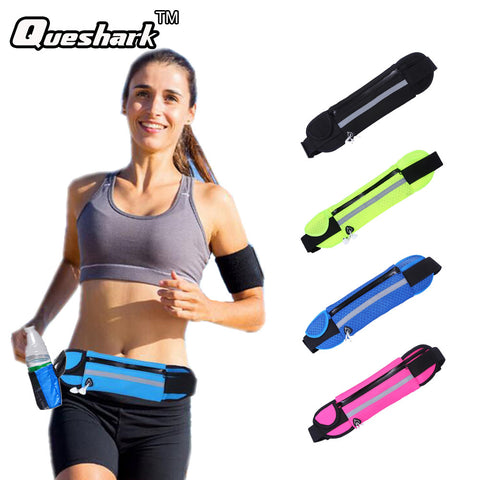Running Waist Bag. can hold a water bottle and a 5.5 inch smartphone. Waist wearables