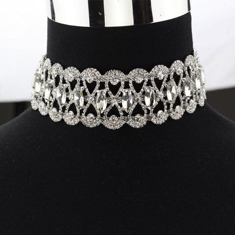 Luxury Rhinestone choker necklace for Women - Best Chocker Chunky Necklace