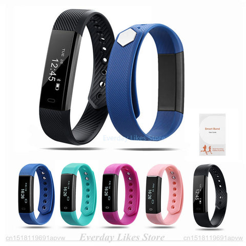 ID115 Smart Bracelet Fitness Tracker with amazing features such as Watch, Alarm Clock, Step Counter, Sleep Monitor etc