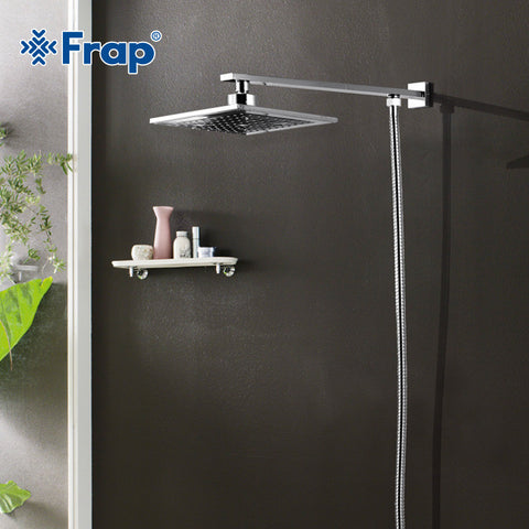 FRAP Hot Selling 220*190mm ABS shower head with stainless steel arm top. Best Bath Accessories