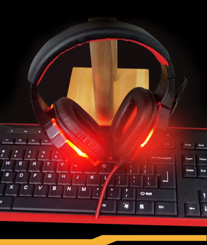 Gaming Headphones with Mic/LED Light Over Ear Stereo with Noise Reduction technology for Gamers