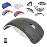 Hot Ultrathin 2.4GHz Foldable Wireless Arc Optical Mouse Mice with Mini USB Receiver