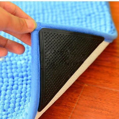 4Pcs/set Non-slip/Skid Silicone Mats for Bath & Living Room along with Anti-skid Pads.