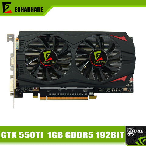 Geforce GTX 550Ti Graphics Card GDDR5 1Gb 192Bit Support PC Game Full HD 1080P