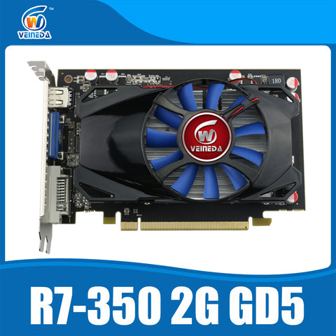 Veineda R7 350 2GB GDDR5 128Bit Desktop GPU Graphics Card