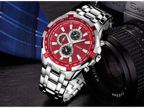 Luxury full stainless steel Watch Men Business Casual quartz Watches Military Wristwatch waterproof