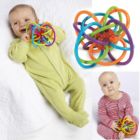 Plastic Hand Bell Baby Toy Rattle; Develop Baby Intelligence-  suitable for babies aged 0-12 Months