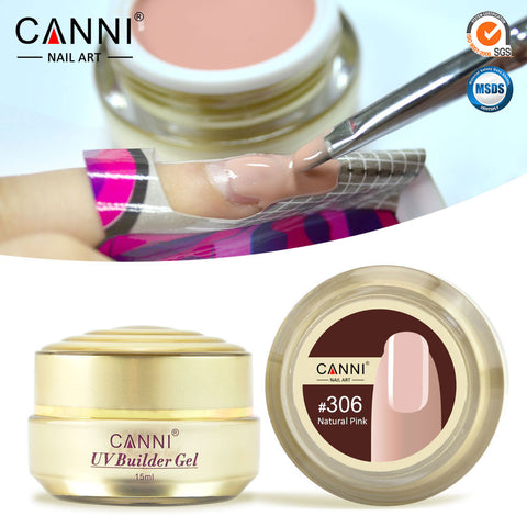 Thick Builder Gel Nails Pink CANNI 15ml Finger Nail Extension UV Gel Nail Cover Pink Camouflage UV Gel