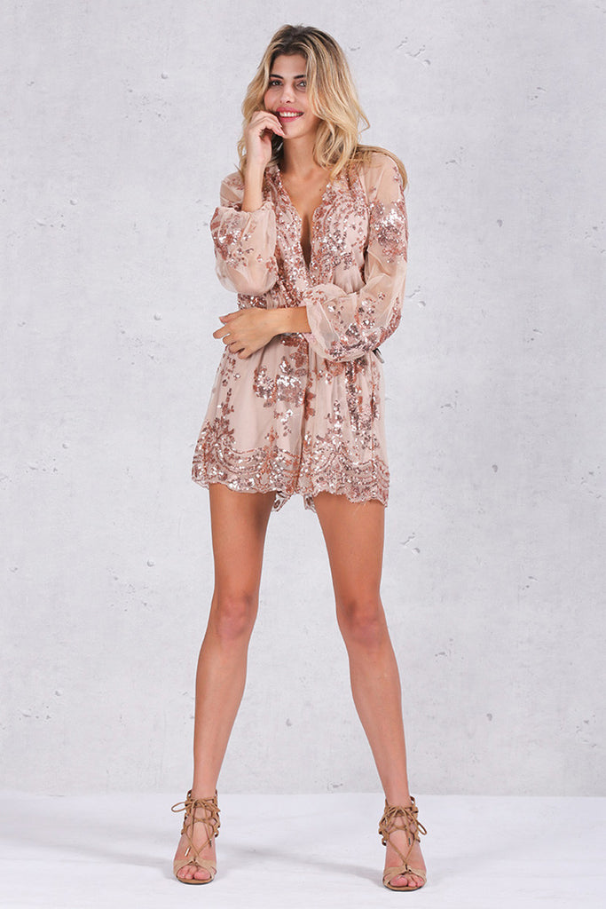 Out All Night Playsuit - Wolfe The Label