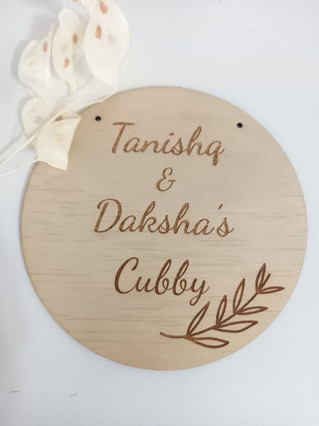 Cubby House/ Bedroom Sign