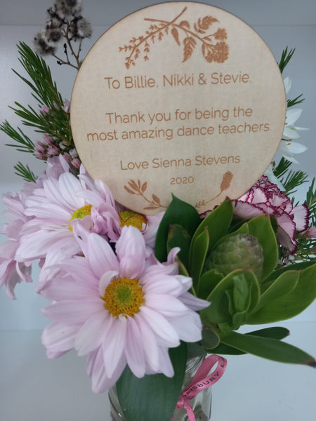 Thank You Floral Planter Stem