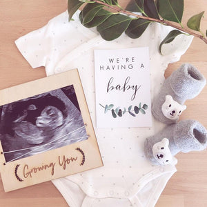 Baby Annoucement/ photo board