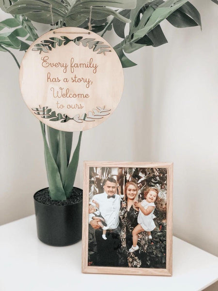 Family - Welcome Plaque