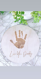 Single Hand print plaque